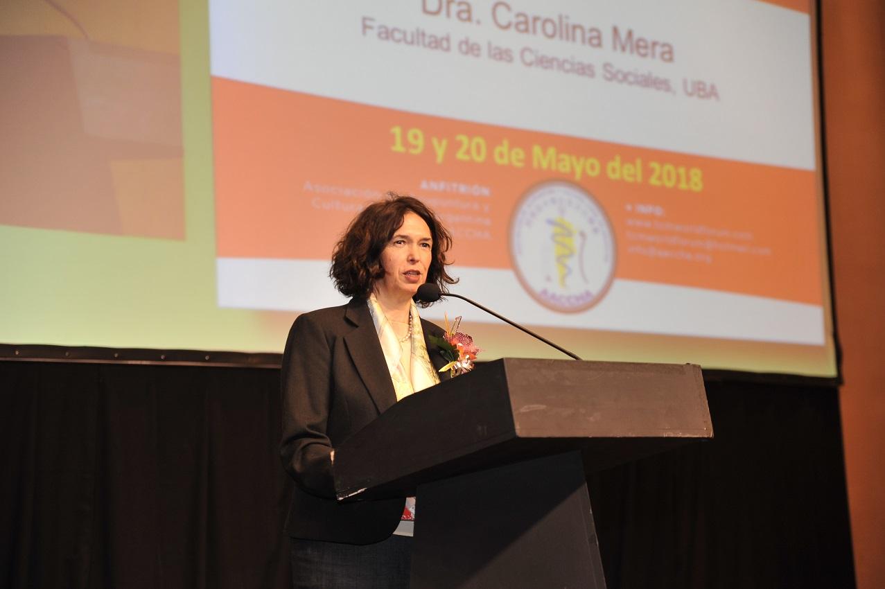 布宜诺斯艾利斯大学社会科学院院长卡罗琳娜致辞DSC_5203.JPG